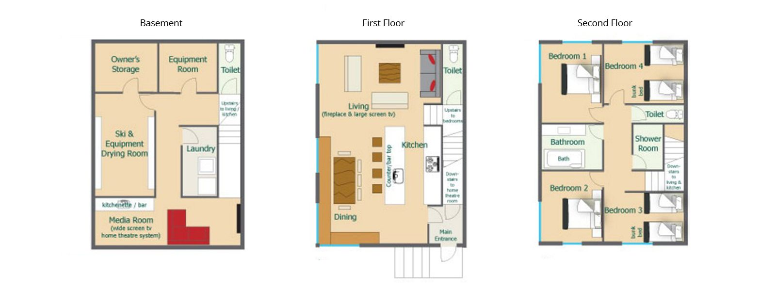 Wajima Floorplan | Middle Hirafu Village, Niseko
