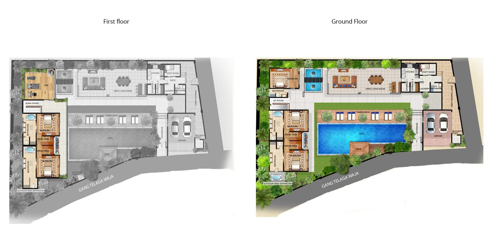 Freedom Villa Floorplan | Petitenget, Bali