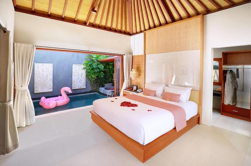 Legian Kriyamaha Villa Bedroom with Pool View | Legian, Bali