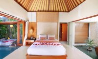 Legian Kriyamaha Villa Bedroom with Lamps | Legian, Bali