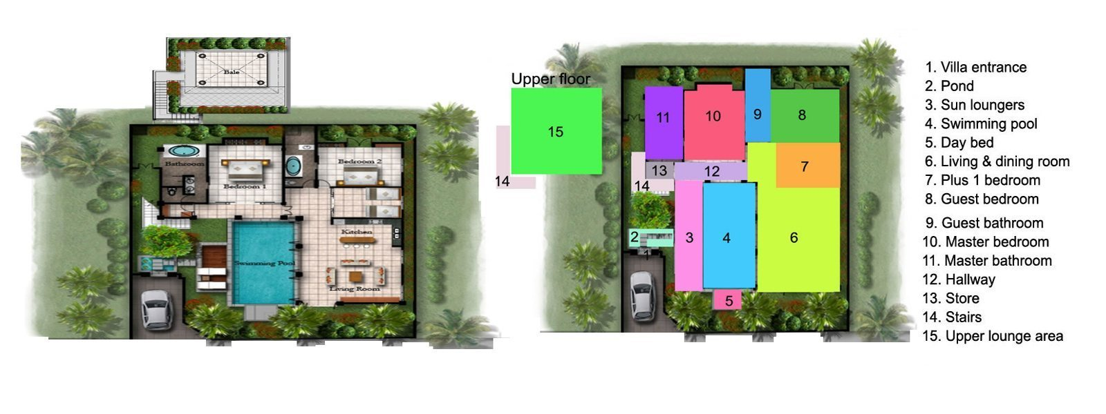 Villa Amala Floorplan | Seminyak, Bali