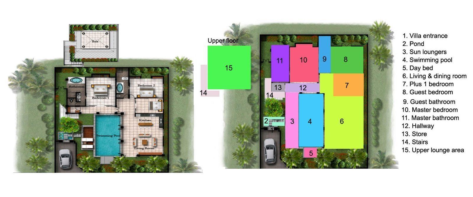 Villa Jepun Floorplan | Seminyak, Bali