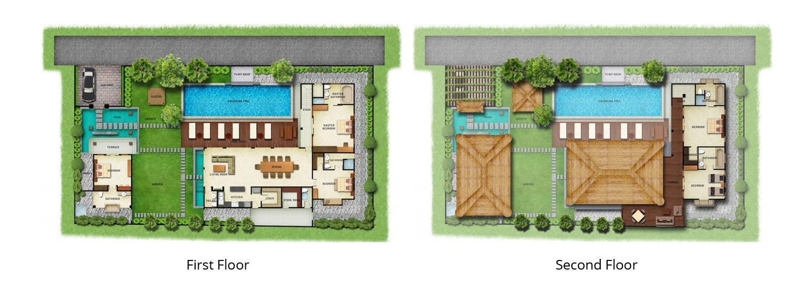 Villa Nilaya Residence Floorplan | Seminyak, Bali