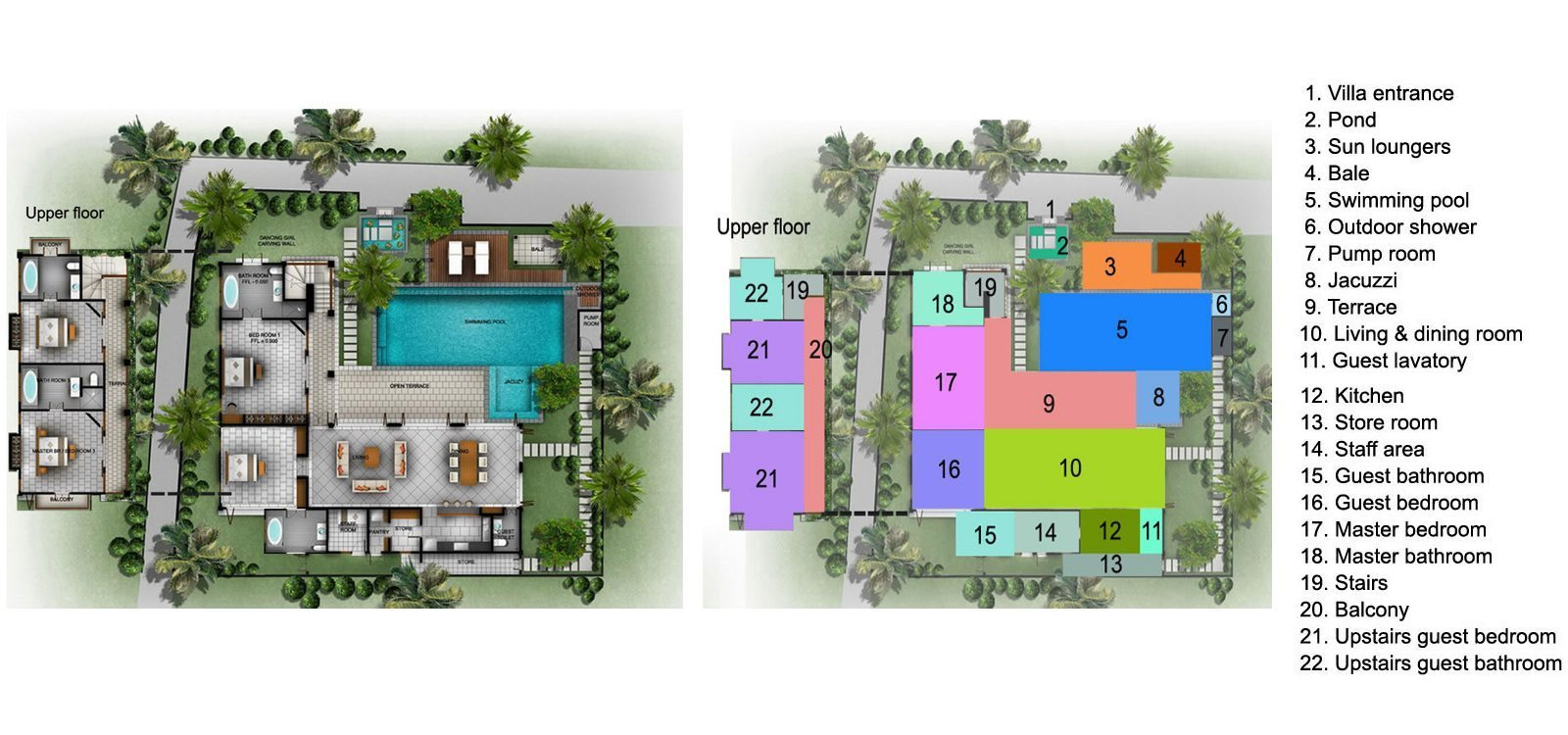 Villa Senang Residence Floorplan | Seminyak, Bali