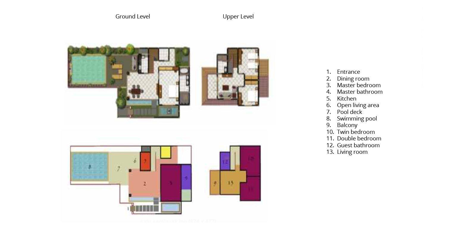 Villa Seriska Satu Seminyak Floorplan   Seminyak, Bali