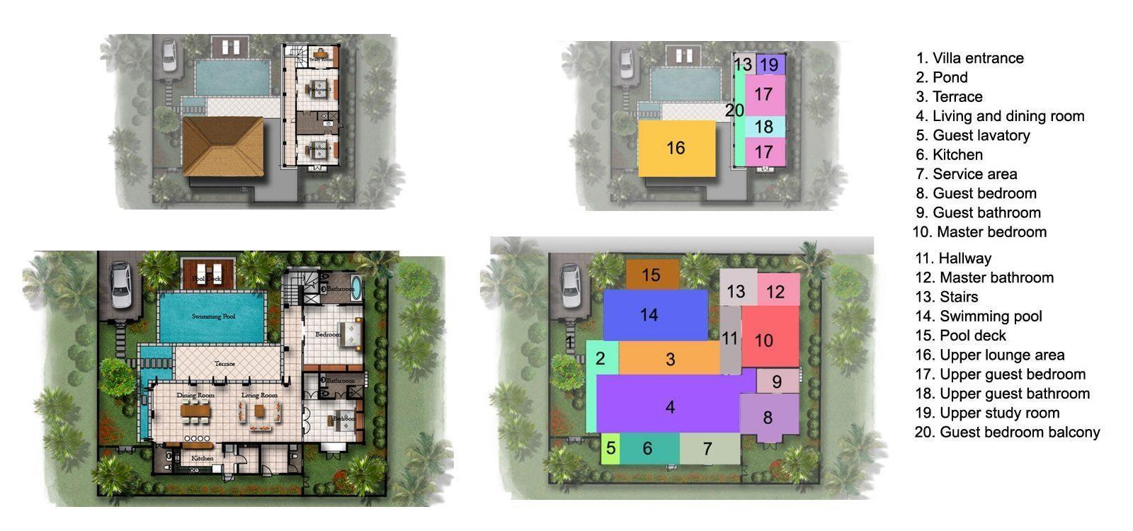 Villa Shanti Floorplan | Seminyak, Bali