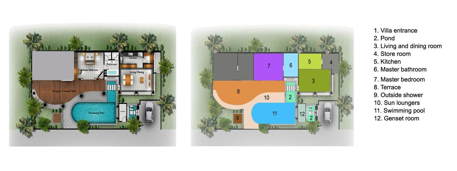 Villa Zensa Floorplan | Seminyak, Bali