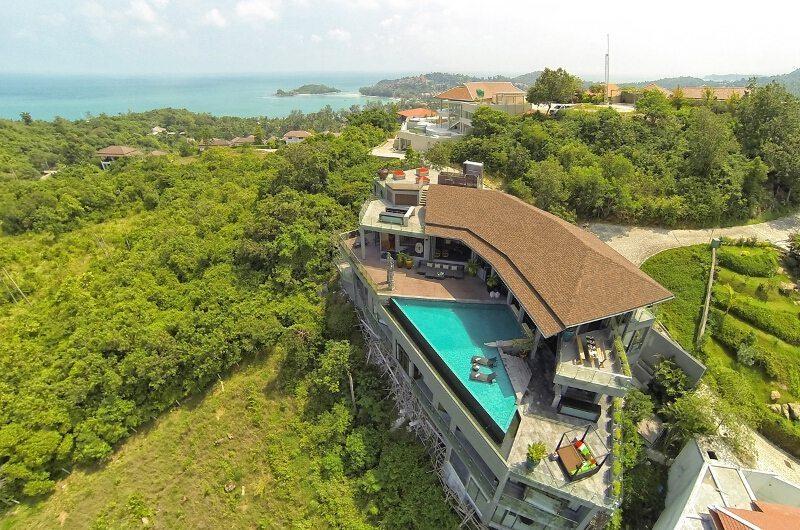 Villa Skyfall Bird's Eye View   Koh Samui, Thailand