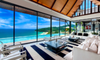 Villa Paradiso Indoor Living Area with Pool View | Naithon, Phuket