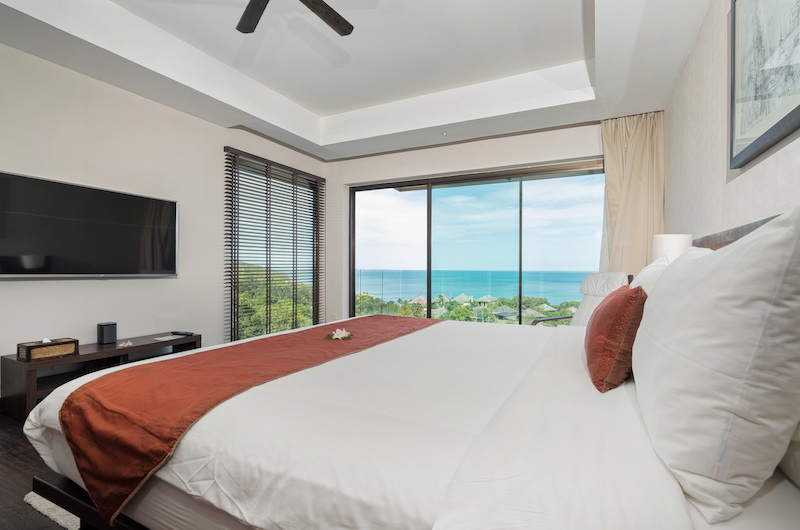 Sukham Bedroom Area with TV | Chaweng, Koh Samui