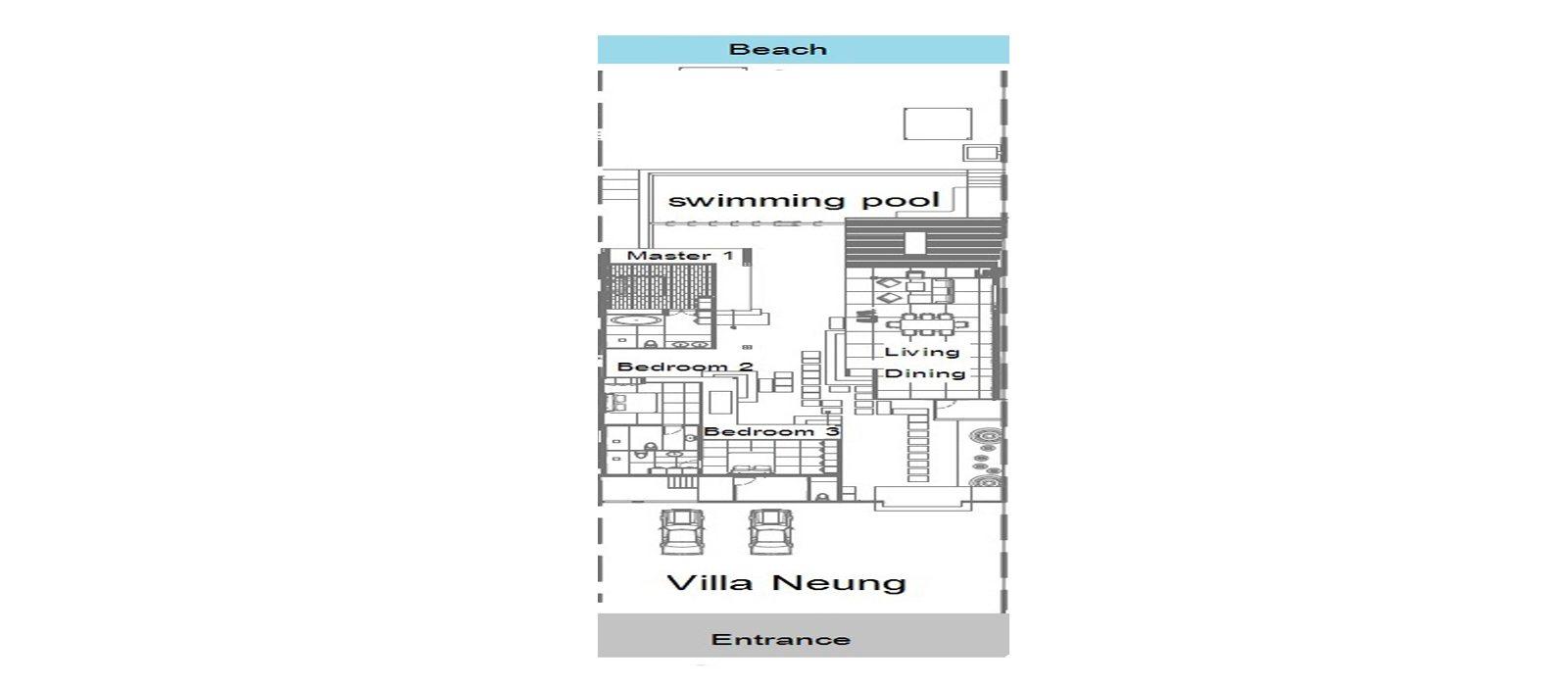 Villa Neung Floorplan | Bang Por, Koh Samui