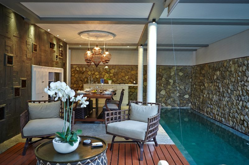 Mahala Hasa Villa Pool Side Seating | Seminyak, Bali