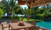 The Beach Villa Outdoor Dining | Lombok | Indonesia