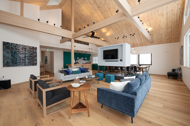 The Chalets at Country Resort Sahama Living Area | St Moritz, Niseko