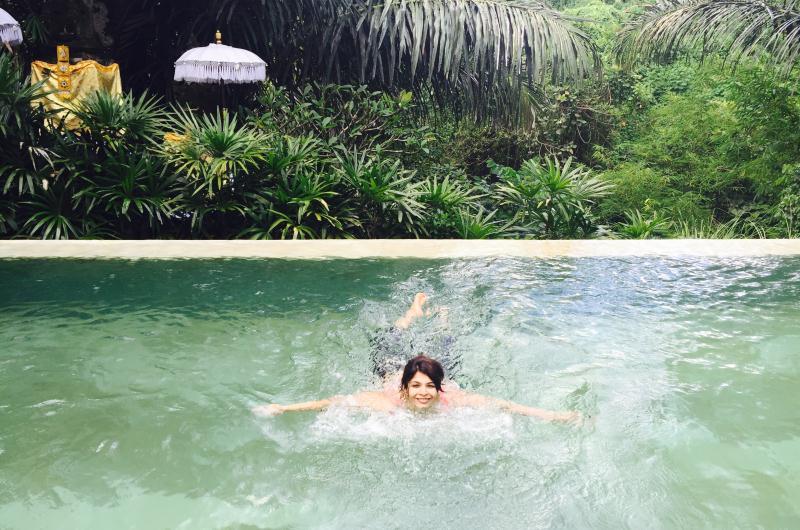Swimming at The Purist Villas