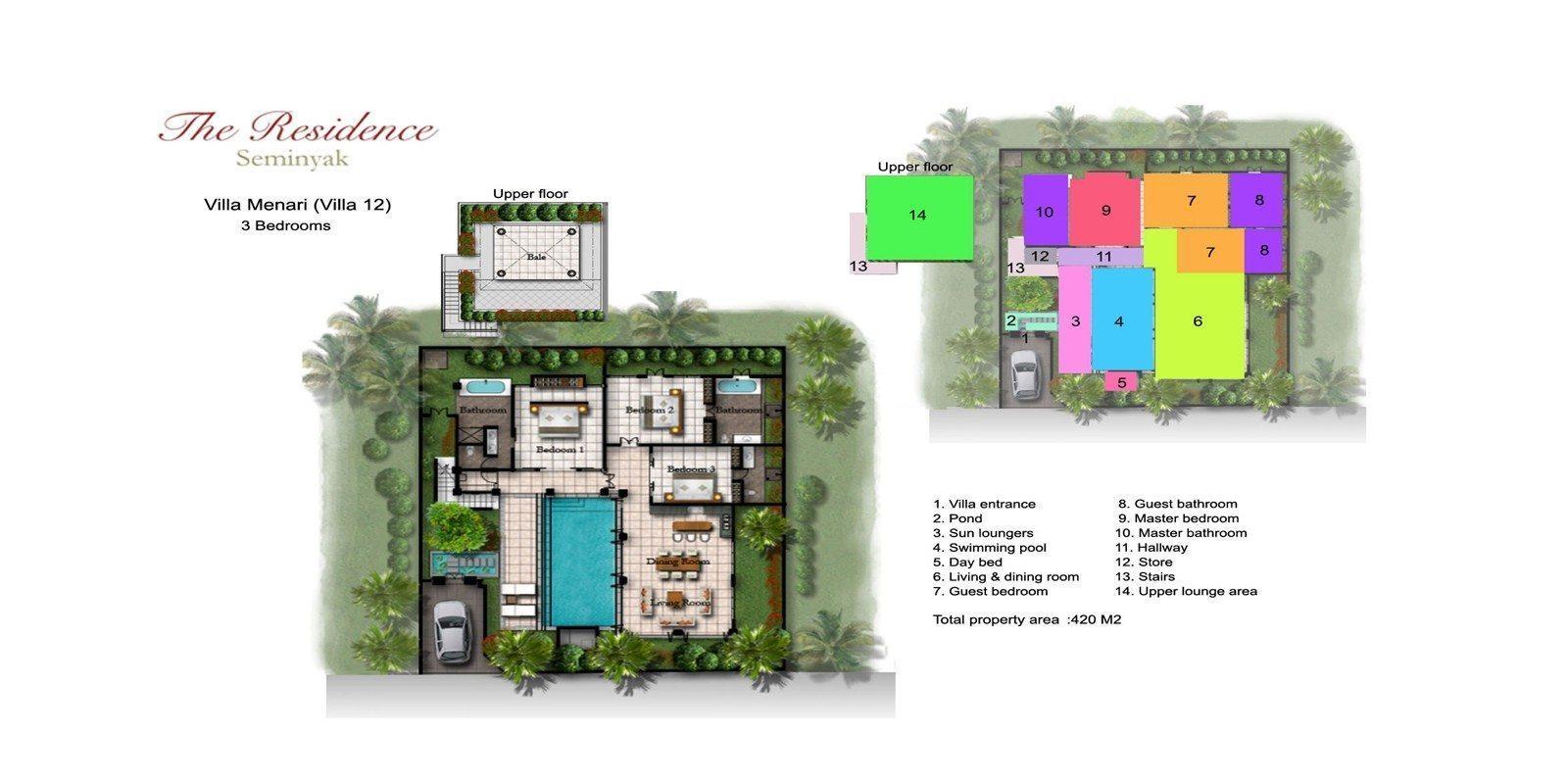 Villa Menari Residence Floorplan   Seminyak, Bali