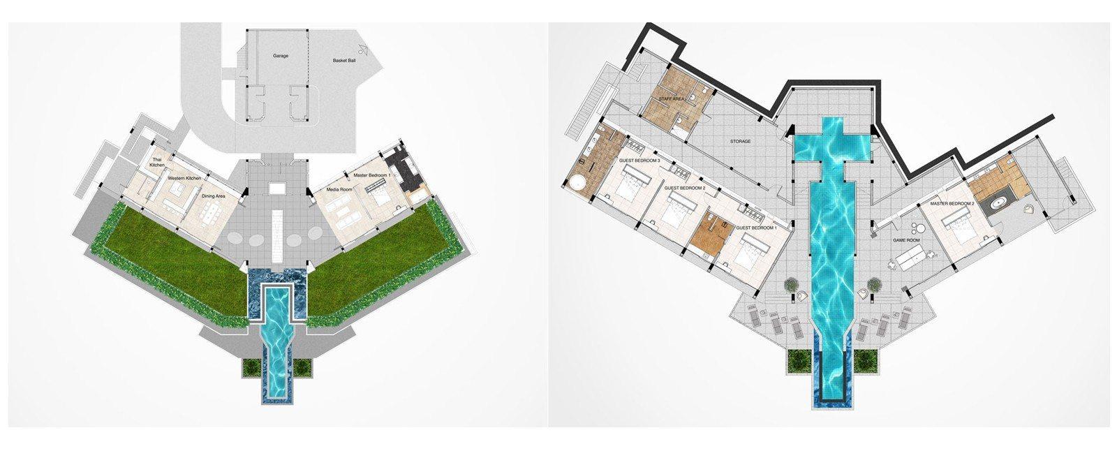 Villa Leelawadee Floorplan | Phuket, Thailand
