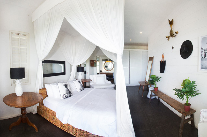 Ocean Prime Villa Bedroom with Four Poster Bed | Canggu, Bali