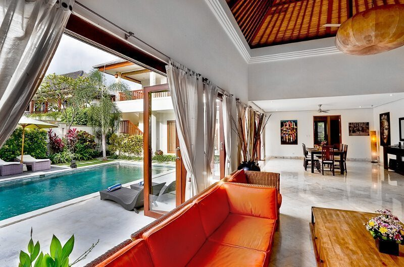 The Residence Villa Shanti Residence Living And Dining Area | Seminyak, Bali
