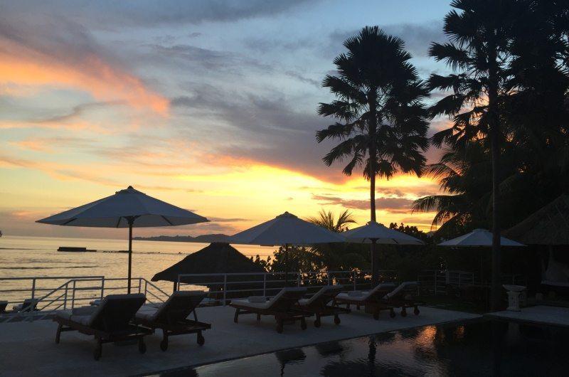 Sunset at Villa Jukung