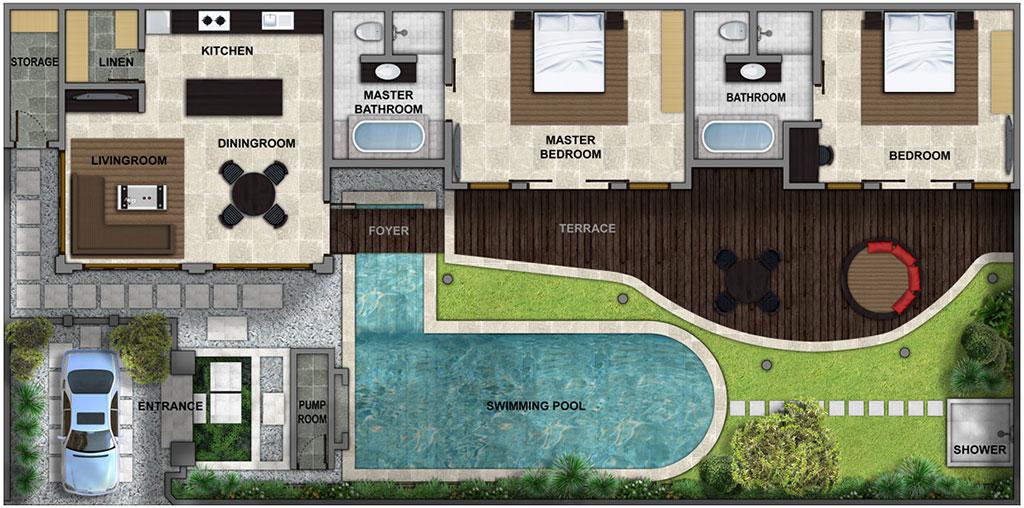 Villa Lanai Residence Floorplan | Seminyak, Bali