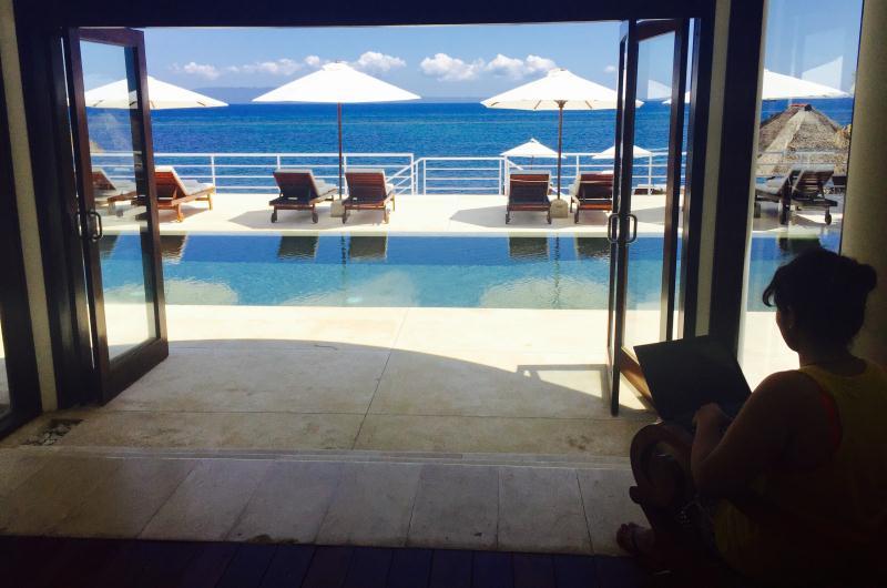 Relaxing at Villa Jukung