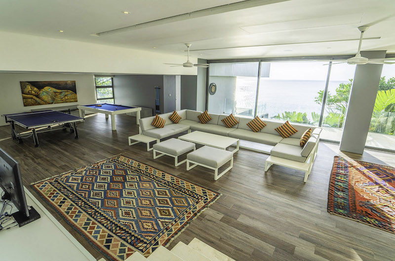Villa Amanzi Living Area with Pool Table | Kamala, Phuket