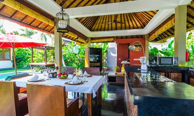 Imani Villas Villa Malika Dining and Kitchen Area | Umalas, Bali