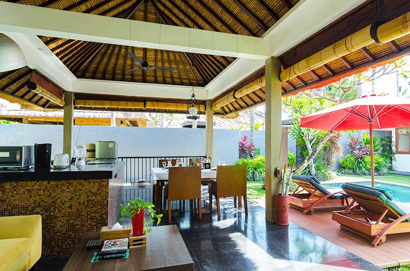 Imani Villas Malika Kitchen and Dining Area | Umalas, Bali