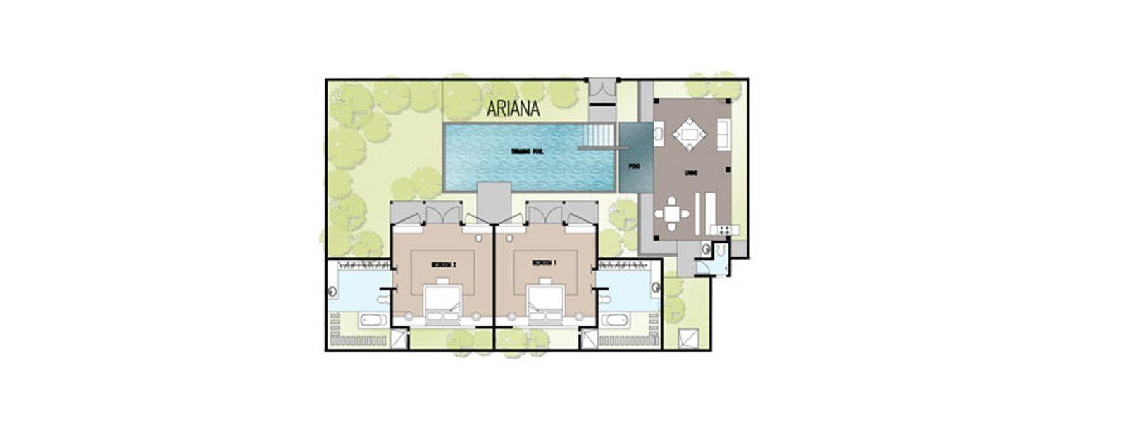 Villa Ariana Floorplan | Umalas, Bali