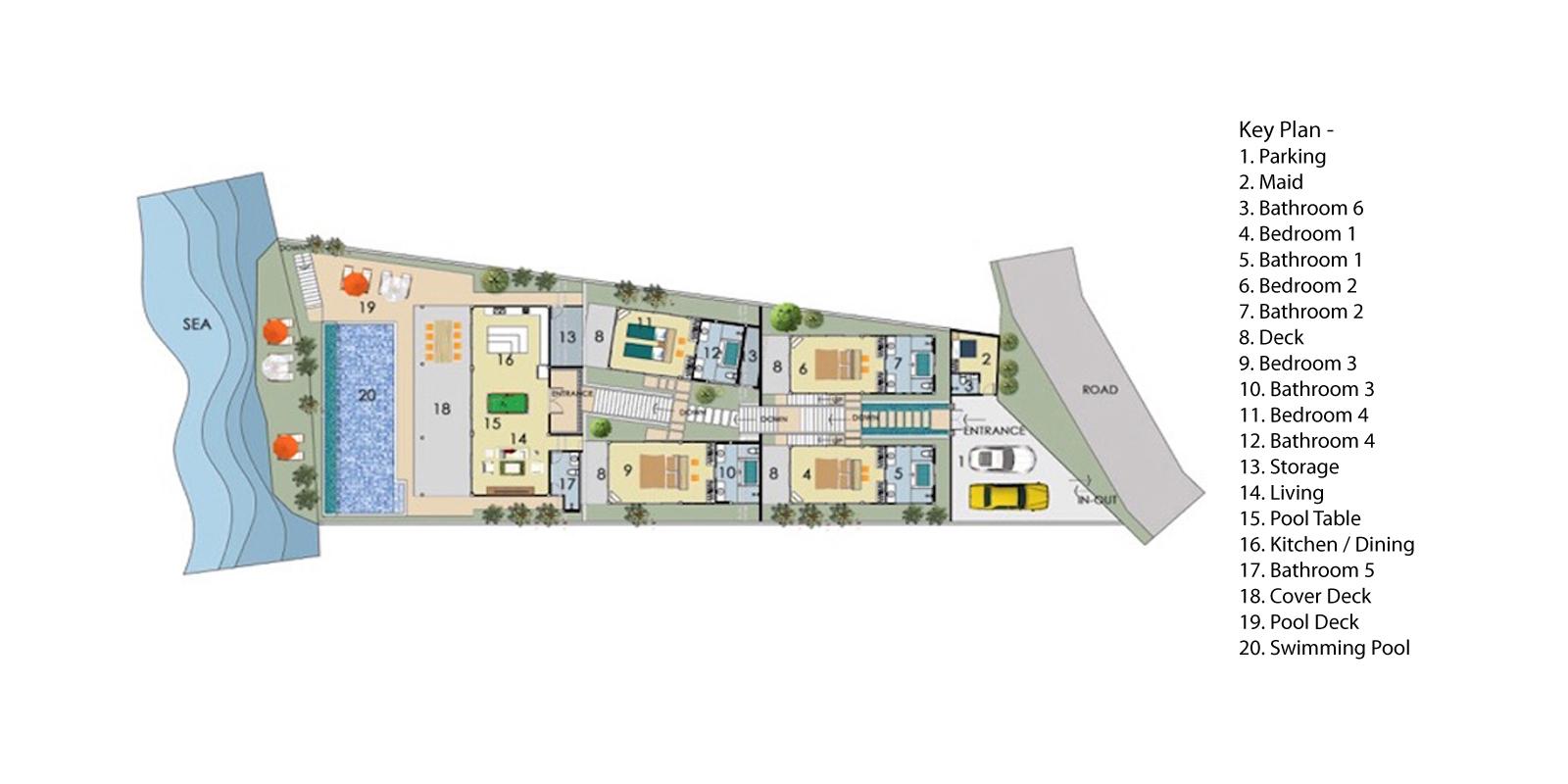 Villa Manta Floorplan | Choeng Mon, Koh Samui