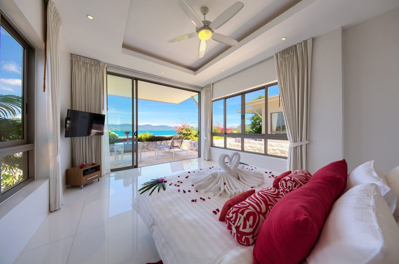 Villa Manta Bedroom with Ocean View | Choeng Mon, Koh Samui