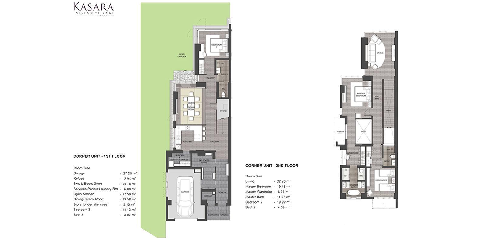 Kasara Townhouses Floor Plan | Annupuri, Niseko