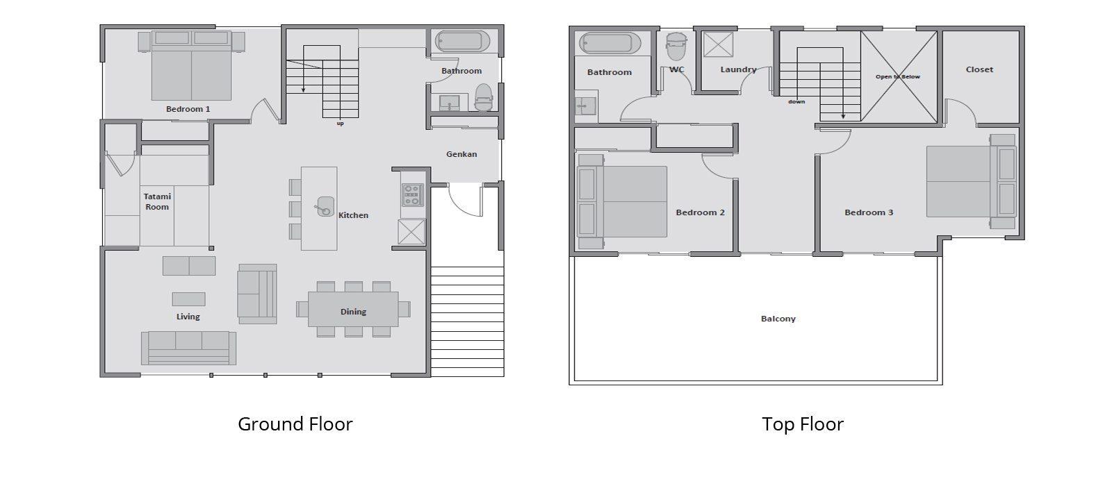 Oak Ridge Floorplan | Hirafu Izumikyo 2, Niseko