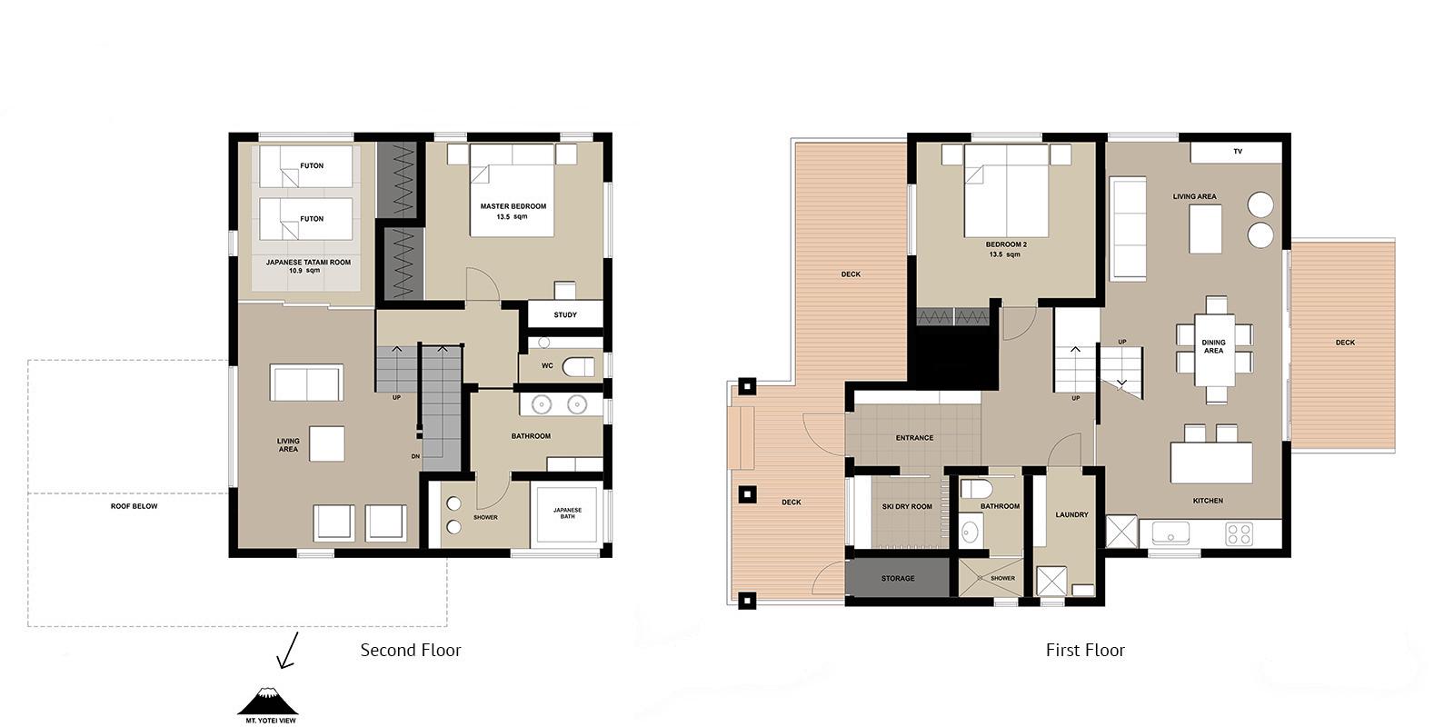 Tahoe Lodge Floor Plan | Hirafu, Niseko