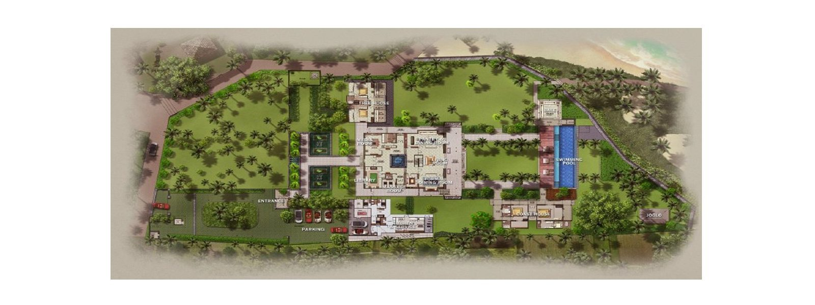 Jeeva Saba Estate Floorplan | Gianyar, Bali
