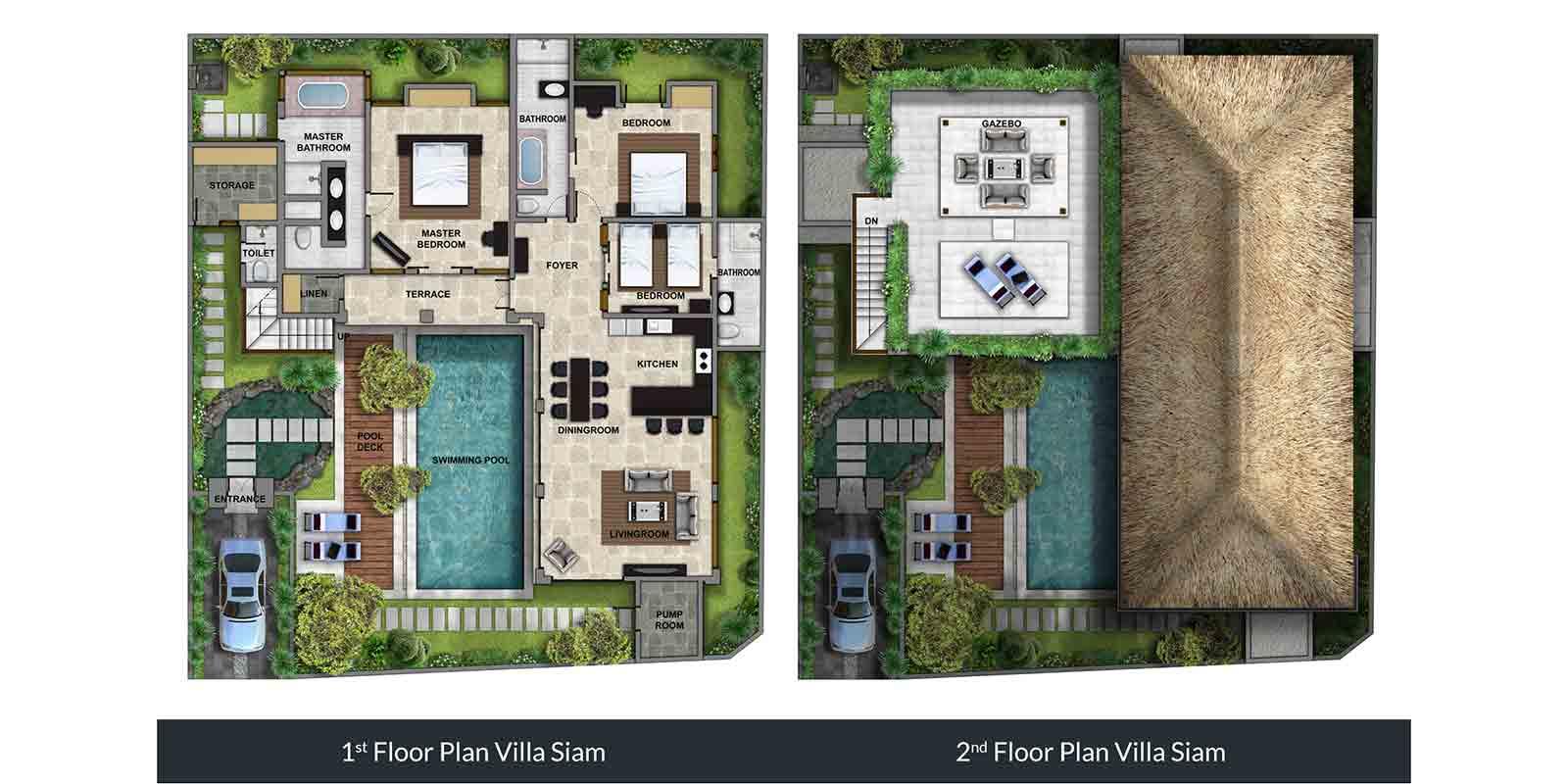Villa Siam Residence Floor Plan | Seminyak, Bali