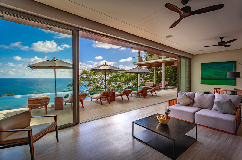 Baan Banyan Phuket Indoor Living Area with Pool View | Kamala, Phuket