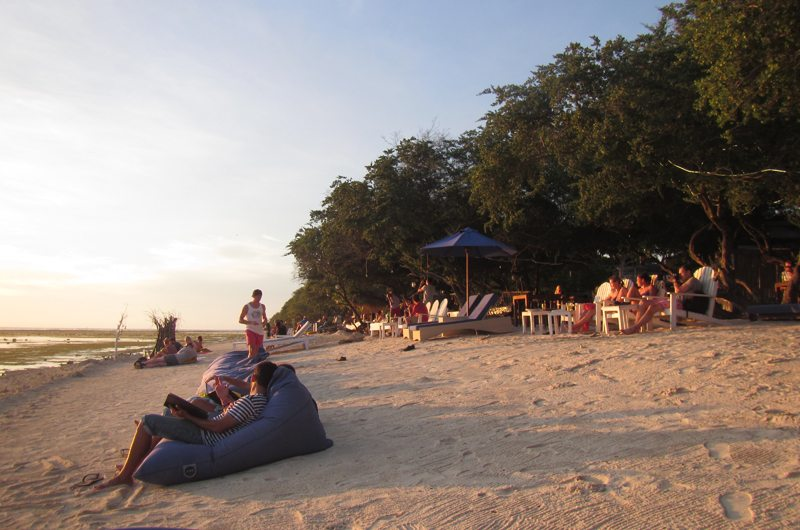 Chilling on the beach in Gili