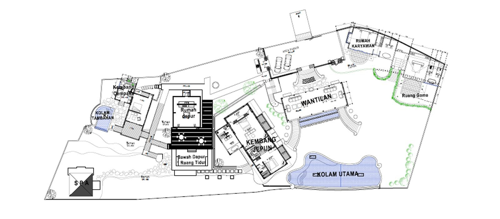 Villa Kembang Floorplan | Ubud, Bali