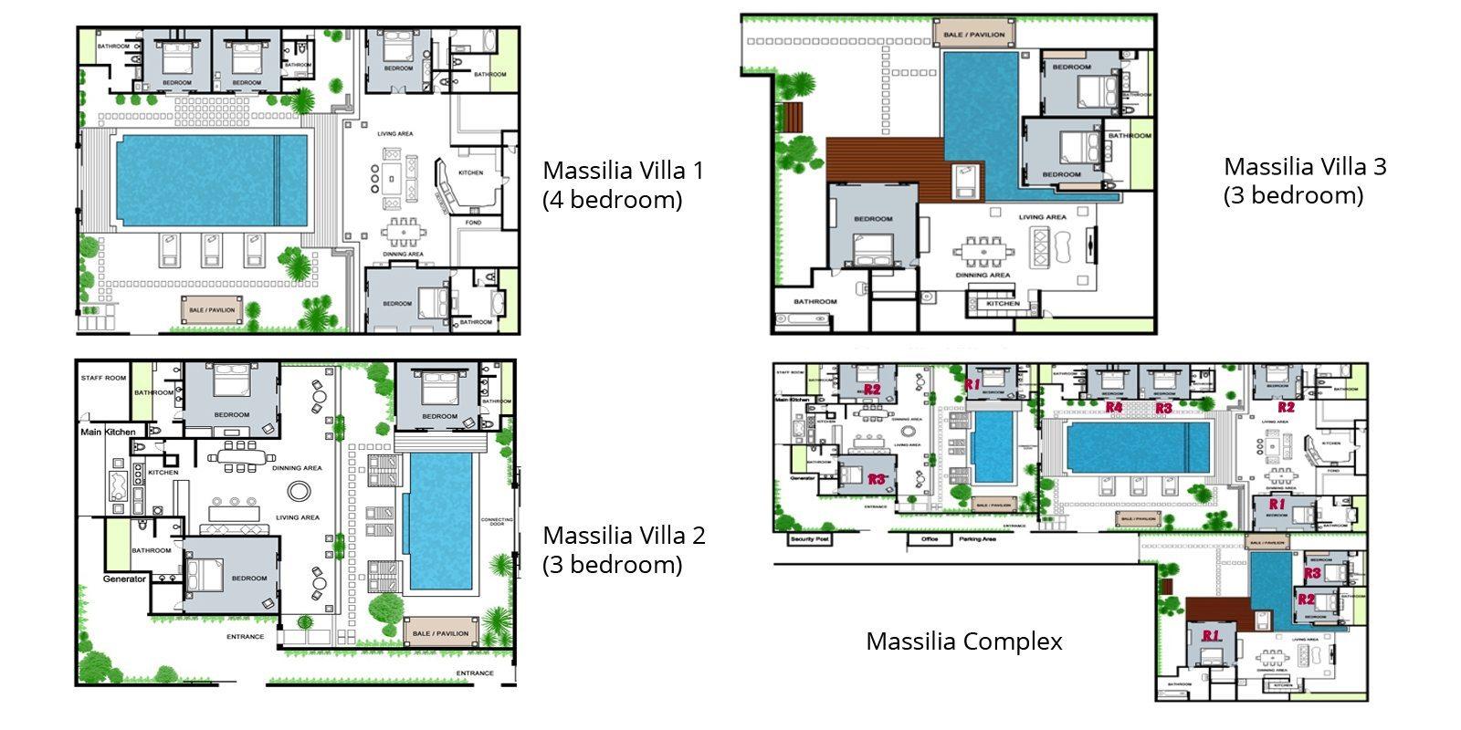 Villa Massilia Floorplan | Seminyak, Bali