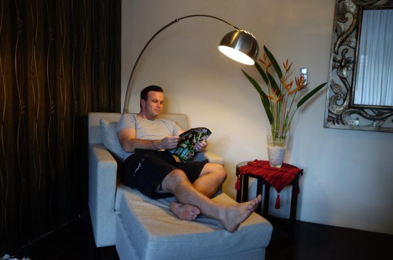 Reading at Villa Sam