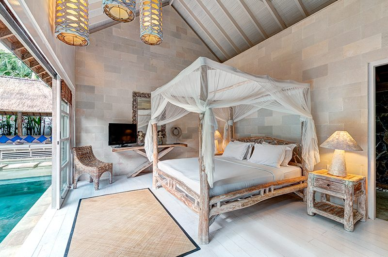 Villa Massilia Three Bedroom Villa Bedroom with Pool View | Seminyak, Bali