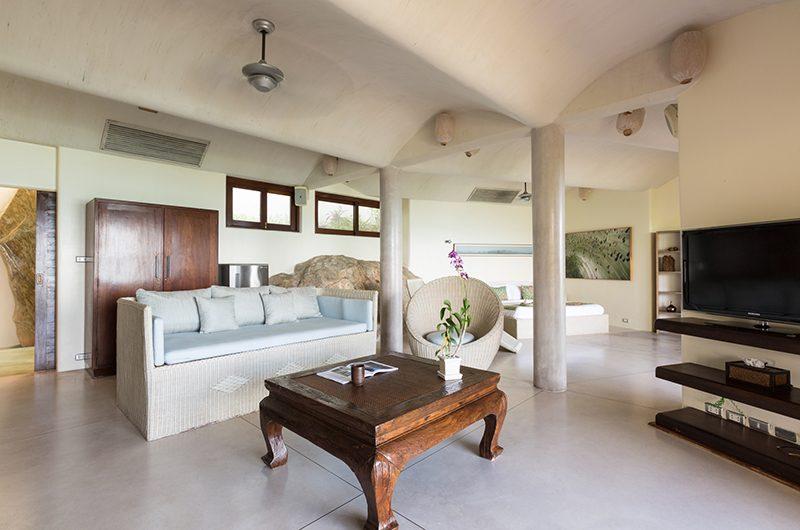 Villa Samudra Master Bedroom Area with TV | Koh Samui, Thailand