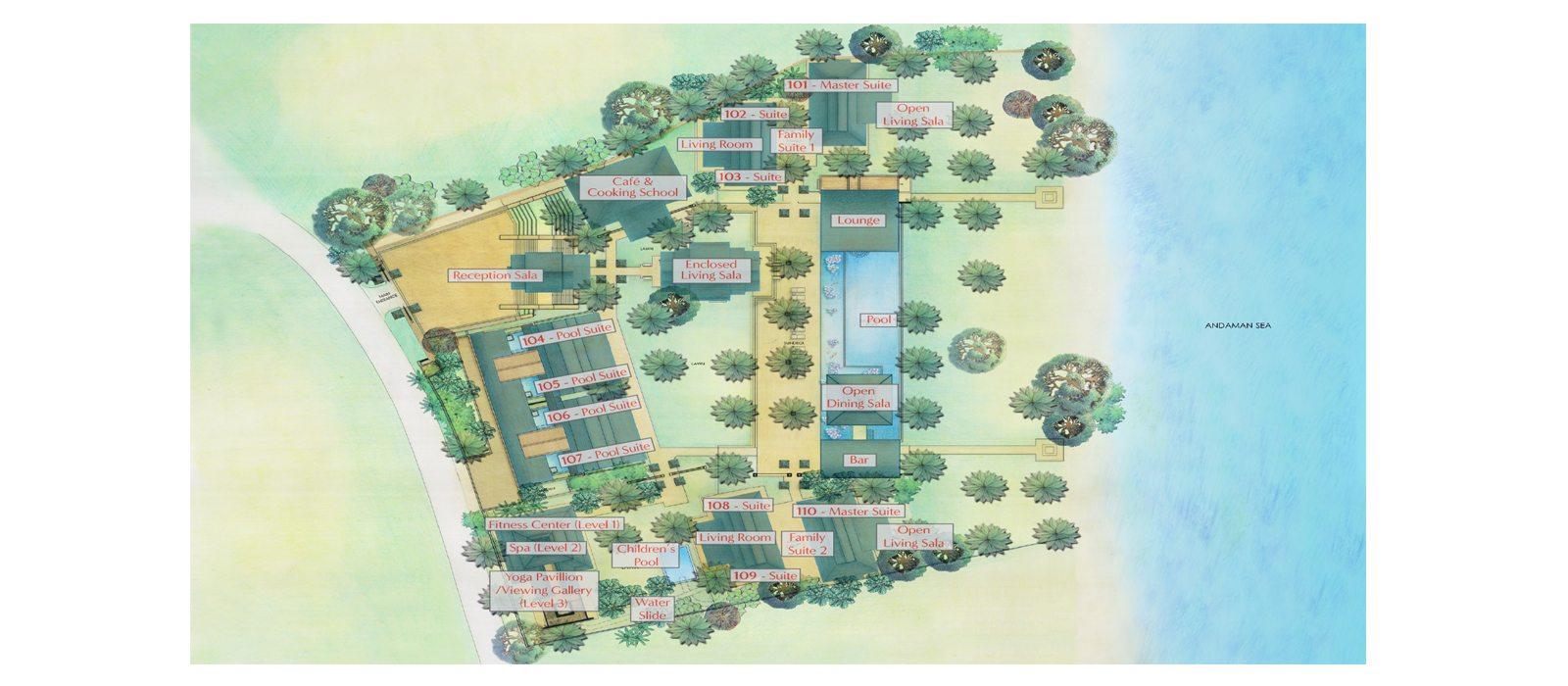 Ani Villas Floorplan | Koh Yao Noi, Phang Nga