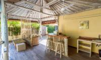 Les Villas Ottalia Gili Meno Kitchen and Living Area | Gili Meno, Lombok