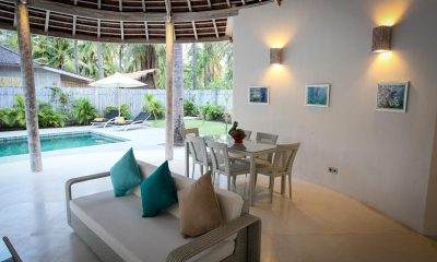 Sunset Palm Resort Super Deluxe 2br Villa Living Area | Lombok | Indonesia