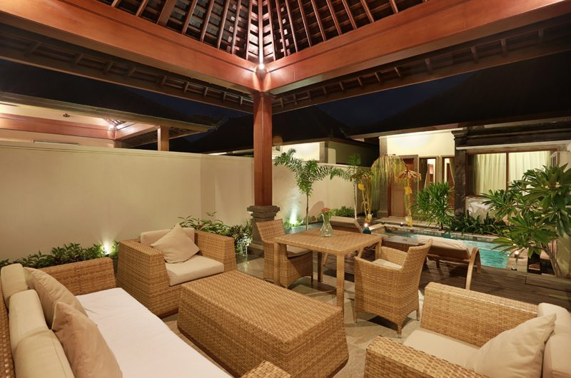Vila Ombak Living Area | Gili Trawangan, Lombok