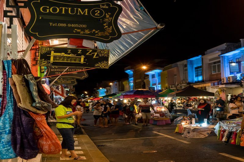 Night Market Old Town Phuket Thailand