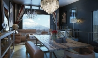Millesime Living And Dining Area | Lower Hirafu, Niseko